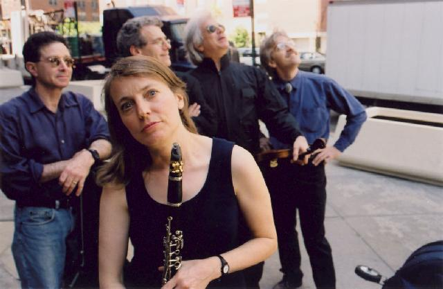 Margot Leverett with her Klezmer Mountain Boys