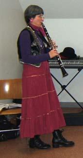 Ressler playing at the dance workshop