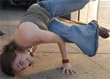 Chana Rothman break-dancing