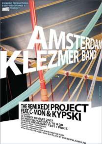 JuMu Amsterdam Klezmer concert poster, Mar 2007
