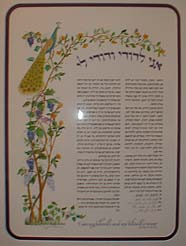 Ari and Judy's Ketubah by Peggy Davis