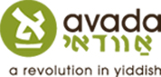 avada logo - is this really proper yiddish spelling for these sounds?
