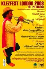 KlezFest London 2008 poster