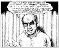Harvey Pekar drawing